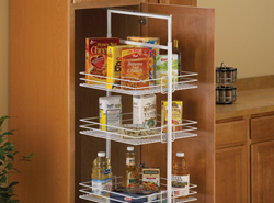 Center Mount Pantry Roll-Out System in White