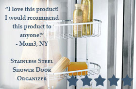 Stainless Steel Over the Shower Door Shower Caddy