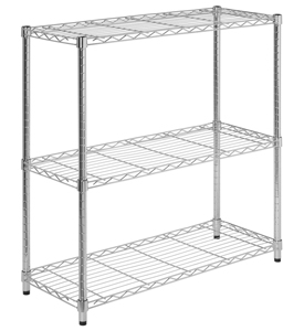Four-Shelf Unit with Wood Frame