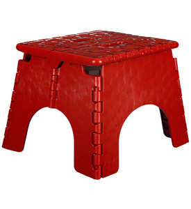 E-Z Foldz Folding Step Stool in Red