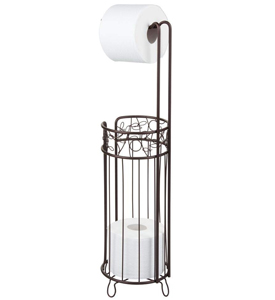 Twigz Toilet Paper Holder and Reserve in Bronze