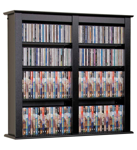 Double Floating Media Storage in Black