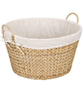 Banana Leaf Wicker Laundry Basket - Natural