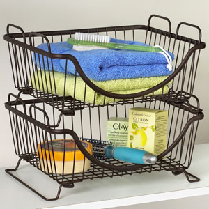 Large Mesh Shopping Basket in Black