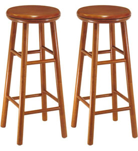 Wood Bar Stools at Organize-It