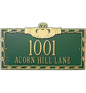 Claddagh Wall Address Plaque - Two-Line Image