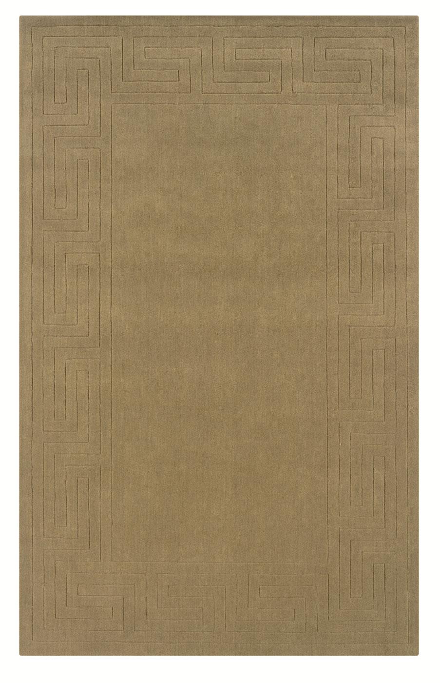 Classic Cedar Green With Greek Key Pattern Rug By Linon