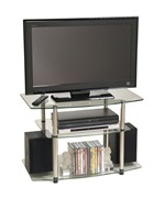 Classic Glass TV Stand by Convenience Concepts