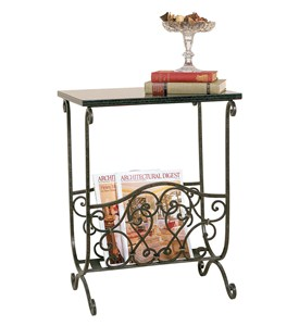 Classic Magazine Rack with Table Top by Passport Accent Image