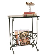 Classic Magazine Rack with Table Top by Passport Accent