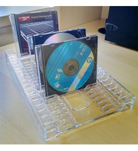 Clear Plastic Media Tray Image
