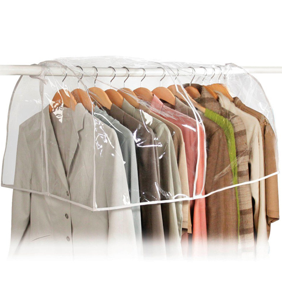 Clear Closet Cover In Garment Bags