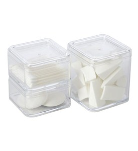 Clear Make Up Storage Boxes (Set of 3) Image
