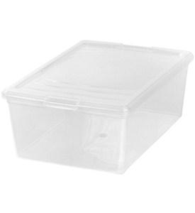 clear plastic box large shoe in plastic storage boxes. Black Bedroom Furniture Sets. Home Design Ideas