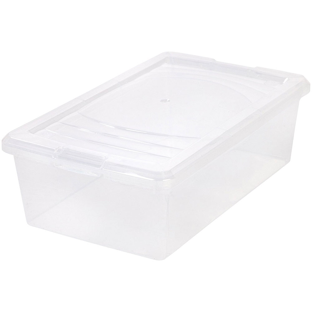 clear plastic box small shoe