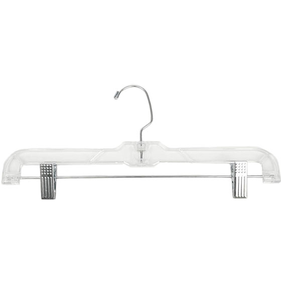 clear plastic clothes hanger with clips 17 inch price 199
