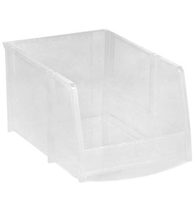 Clear Plastic Stacking Bin Image