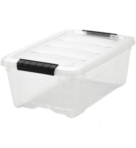 Clear Plastic Storage Box - Small Image