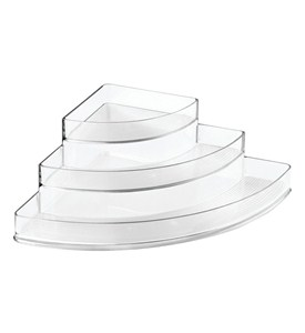 Clear Plastic Three-Tier Corner Spice Rack Image