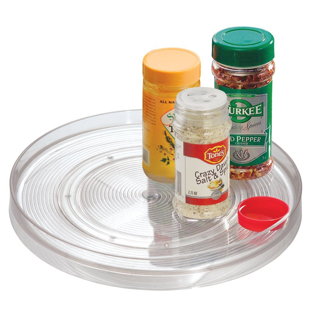 Clear turntable in lazy susan turntables - Plateau tournant pour placard cuisine ...