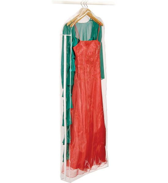 Clear Vinyl Dress Bag In Garment Bags