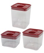 ClickClack Food Storage Containers - Red Cube
