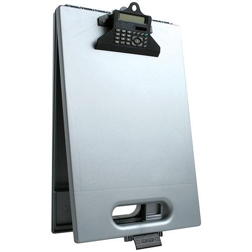 Clipboard Storage Case And Calculator Silver In Clipboards