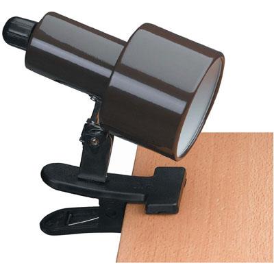 clip on reading lamp brown in desk lamps. Black Bedroom Furniture Sets. Home Design Ideas