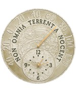 Outdoor Thermometer and Clock - Fossil Celestial