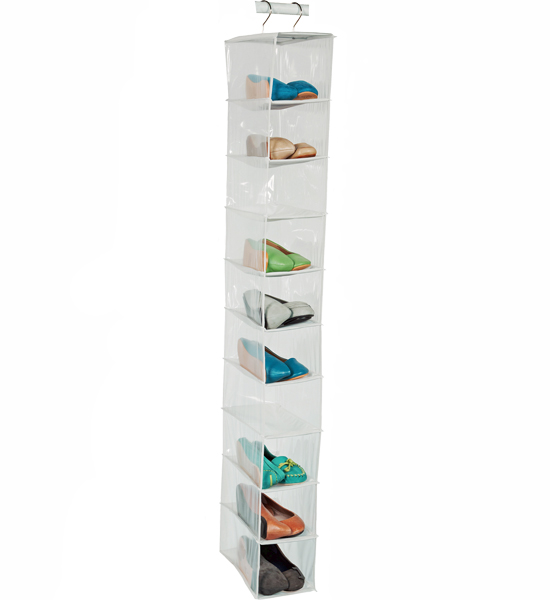Closet Hanging Shoe Organizer Price: $10.99