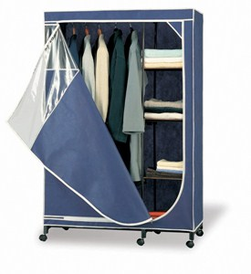 Clothes Armoire With Shelves Image