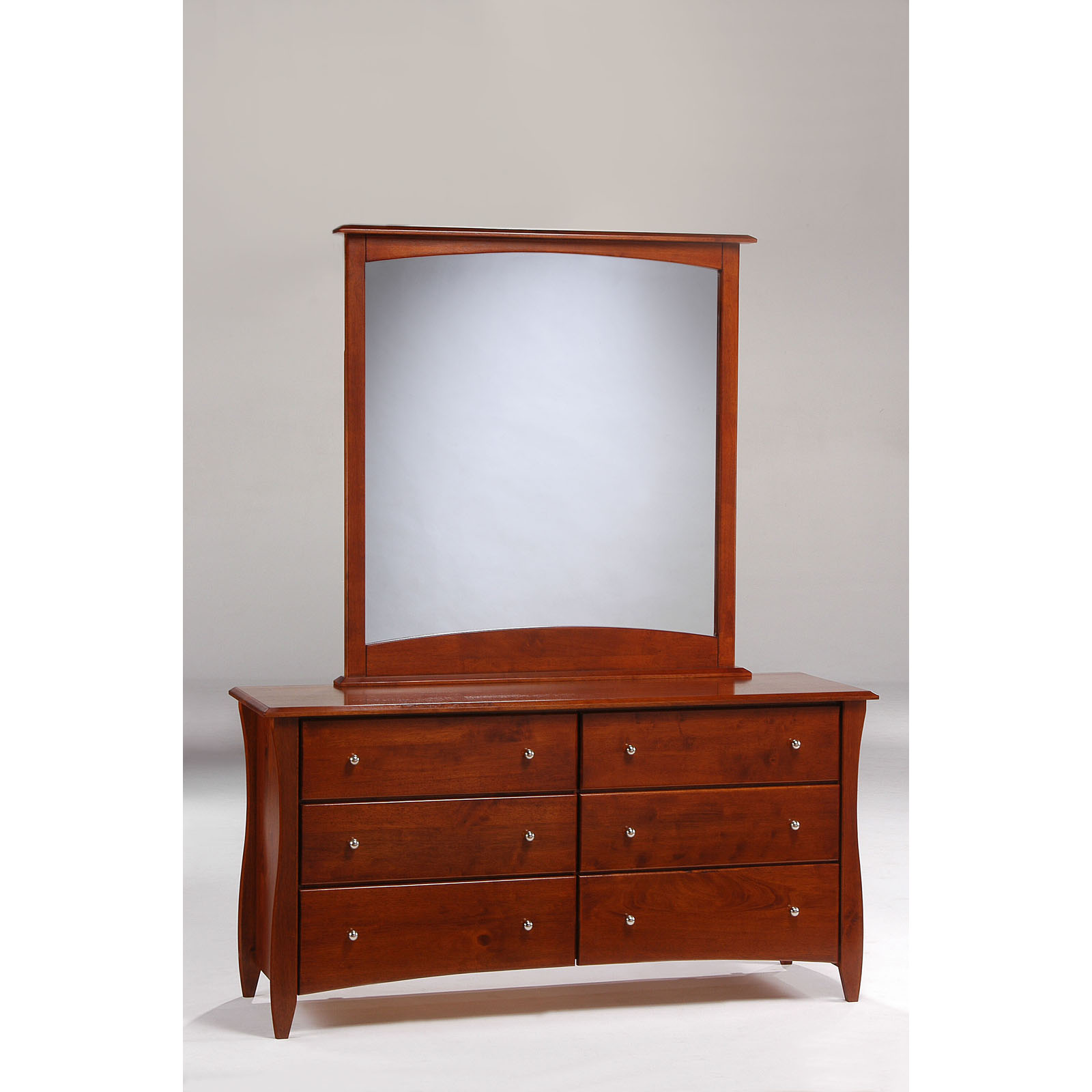 Clove 6 Drawer Dresser With Mirror By Night And Day