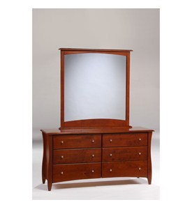 Clove 6-Drawer Dresser with Mirror by NIGHT AND DAY FURNITURE ONLINE Image