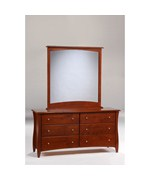 Clove 6-Drawer Dresser with Mirror by NIGHT AND DAY FURNITURE ONLINE