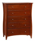 Clove Five Drawer Wood Chest