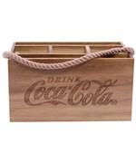 Coca-Cola Picnic Flatware Caddy - Wood