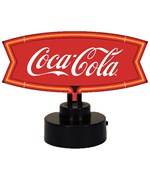 Coca-Cola Red and White Fishtail Neon Sculpture by Neonetics