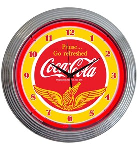Coca-Cola Wings Neon Clock by Neonetics Image