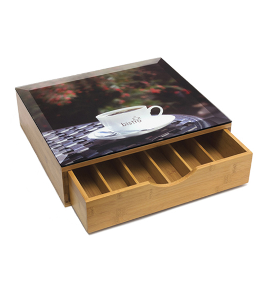 Coffee Pod Storage Drawer Bamboo Image