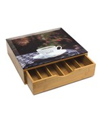 Coffee Pod Storage Drawer - Bamboo