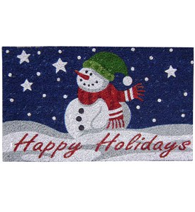 Coir Doormat - Happy Holidays Image