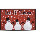 Coir Doormat - Let it Snow
