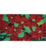Coir Doormat - Poinsettias