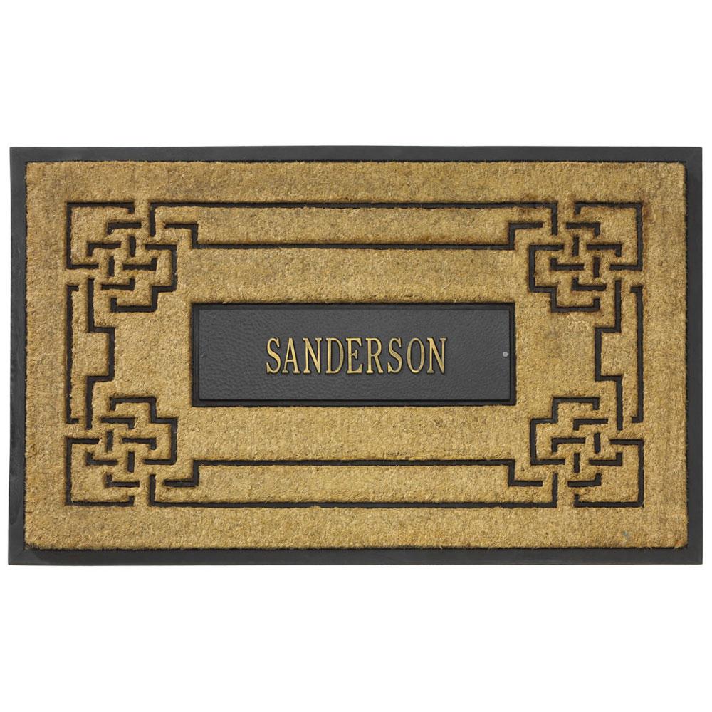Coir Knot Personalized Doormat In Doormats