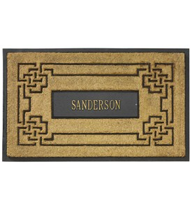 Coir Knot Personalized Doormat Image