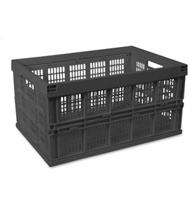 Collapsible Storage Crate - Black Image