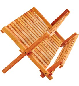 Collapsible Bamboo Dish Rack Image