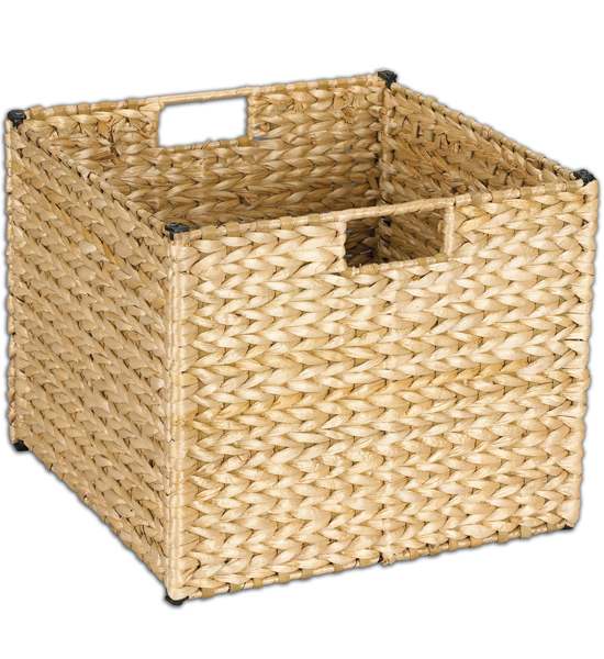 Perfect Collapsible Wicker Storage Basket Image