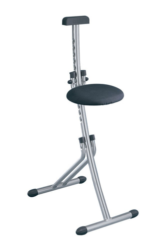 Adjustable height household work stool in ironing board for Chaise debout assis