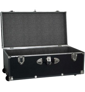 Collegiate Wheeled Storage Trunk - Black Image